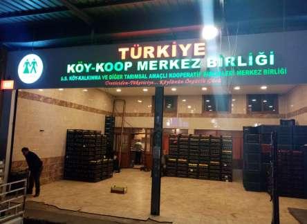 (Turkish) KÖY-KOOP MERKEZ BİRLİĞİ İSTANBUL BAYRAMPAŞA SEBZE VE MEYVE HALİNDE